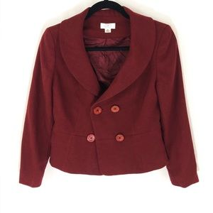 Loft deep red blazer